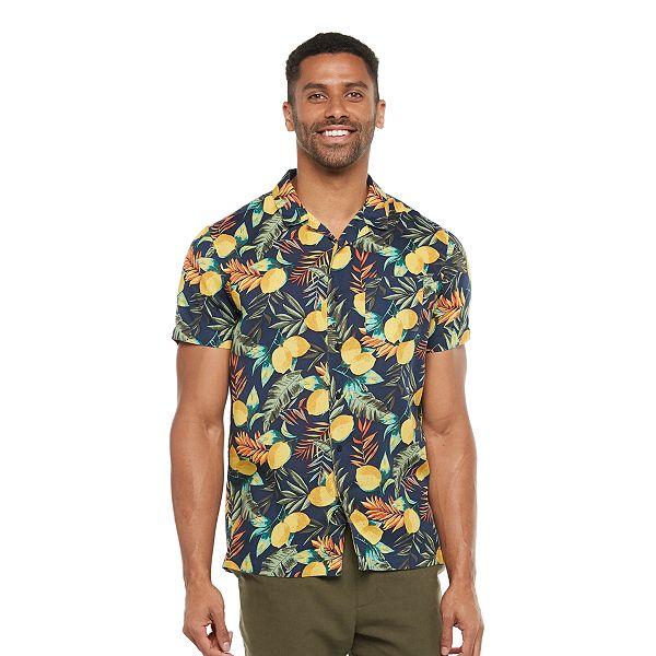Men's Marc Anthony Slim-Fit Hawaiian Shirt