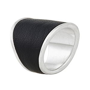 Bella Uno Faux Leather Ring