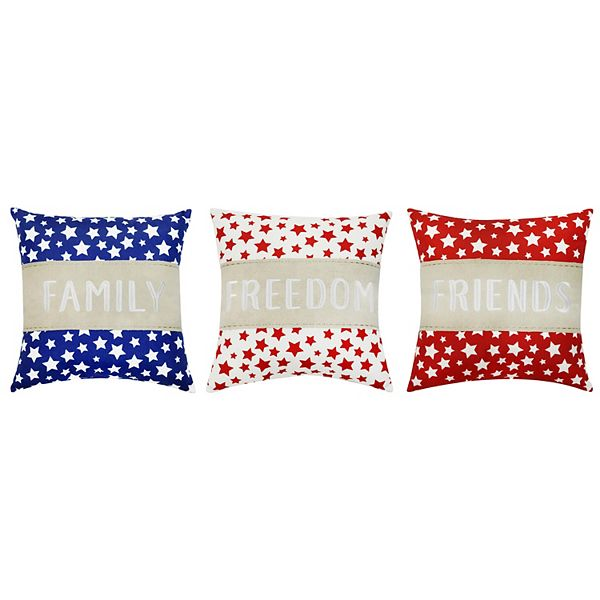 Celebrate Americana Together Family Freedom Friends 3 Pack Throw Pillow
