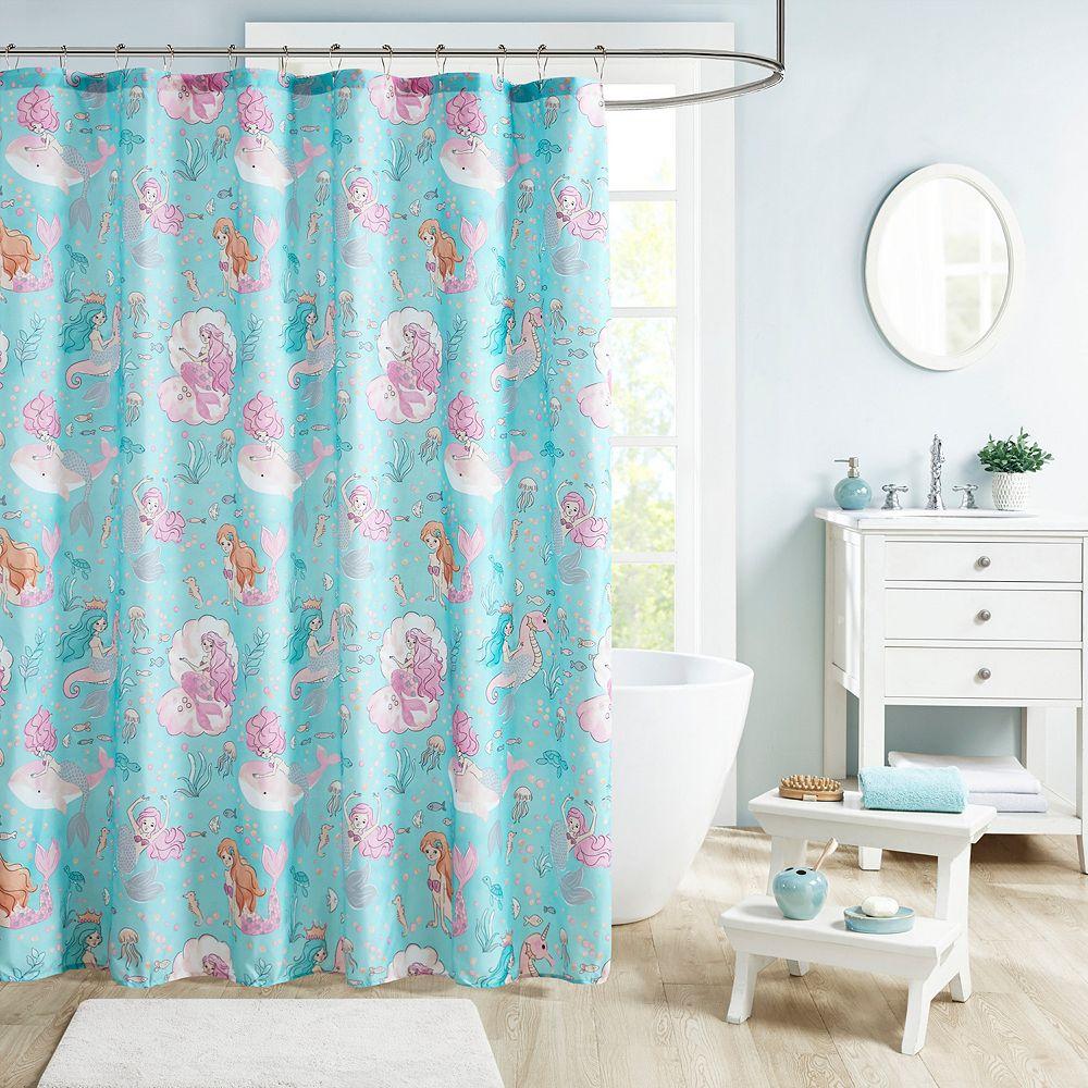 Mi Zone Kids Leilani Printed Mermaid Shower Curtain