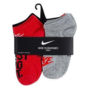 Boys Nike Cushioned 6-pack Crew Socks