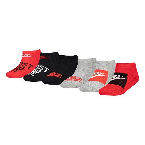 Boys Nike Cushioned 6-pack Ankle Socks