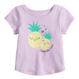 Baby Girl Jumping Beans® Shirttail Graphic Tee