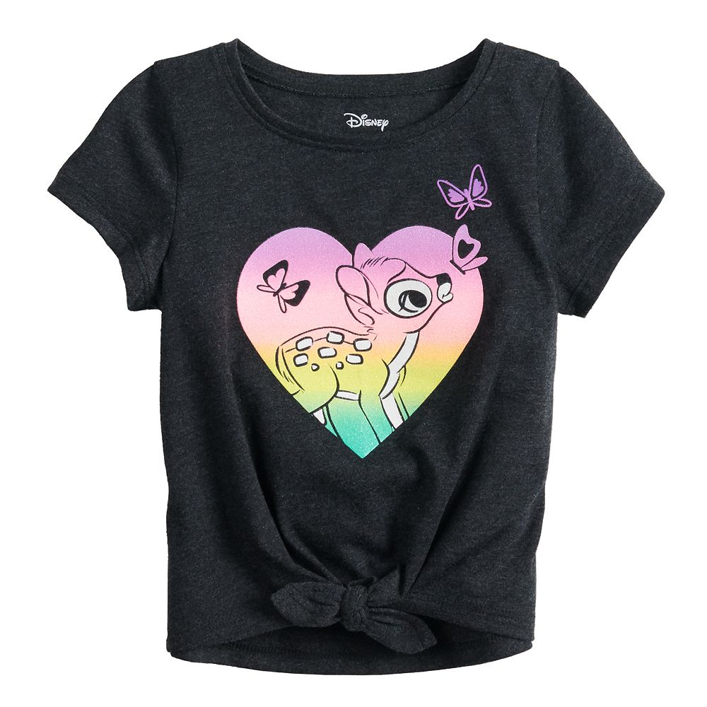 Disney's Bambi Baby Girl Graphic Knot-Front Tee by Jumping Beans®