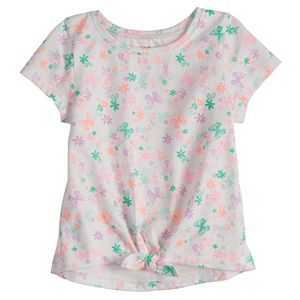Baby Girl Jumping Beans® Graphic Tie-Front Tee