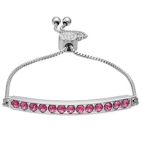 Brilliance Birthstone Bar Bracelet with Swarovski Crystal