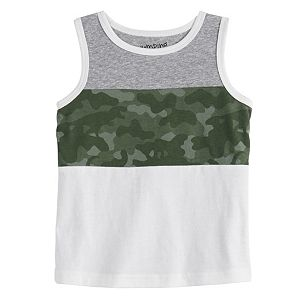 Baby Boy Jumping Beans® Colorblock Camo Muscle Tee
