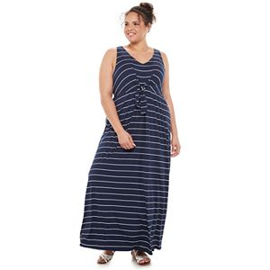 Juniors' Plus Size SO® Knotted Front Maxi Dress