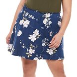 Juniors' Plus Size SO® Skater Skirt