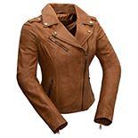 Women's Whet Blu Harper Asymmetrical Leather Jacket