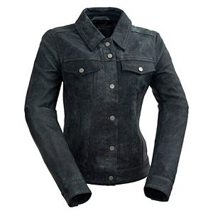 Women's Whet Blu Distressed Leather Jacket