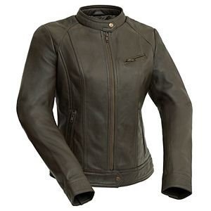 Women's Whet Blu Leather Moto Jacket