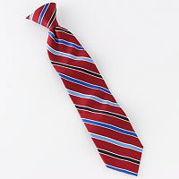 Chaps Striped Clip-On Tie - Boys