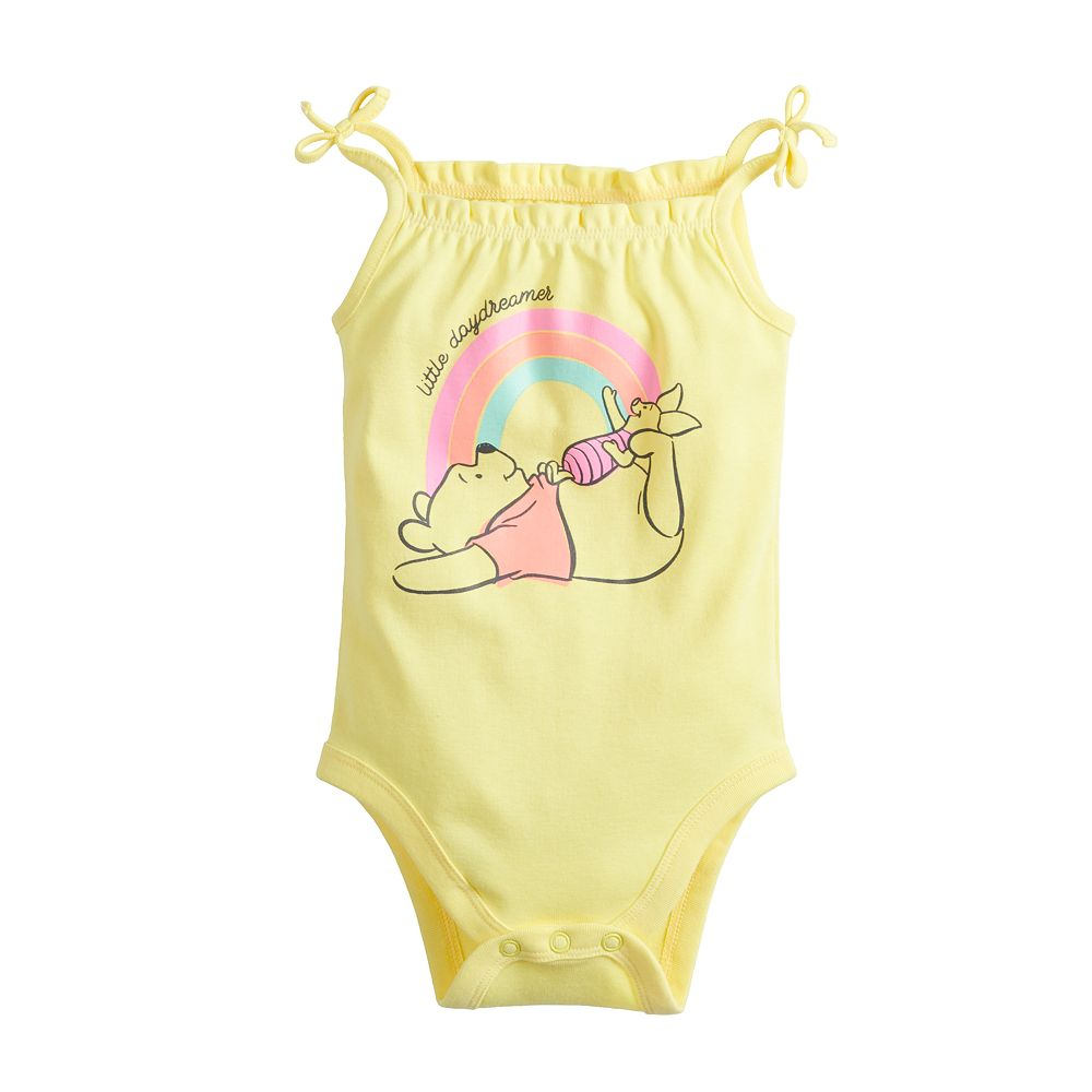 Disney's Winnie The Pooh Baby Girl Ruffle Tank Bodysuit by Jumping Beans®