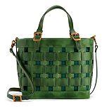 AmeriLeather Dorgan Latigo Leather Basket Satchel