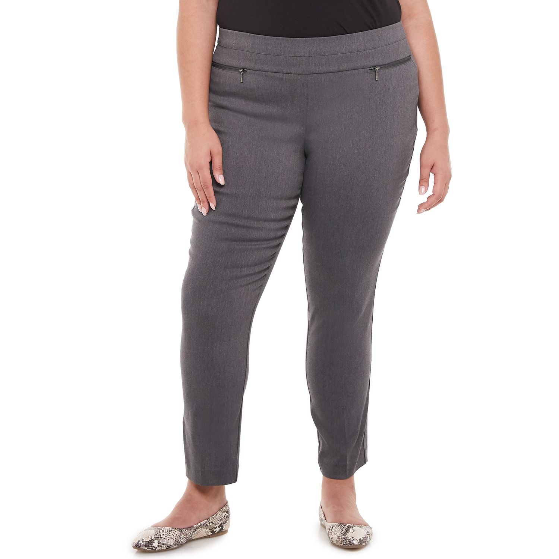 Juniors' Plus Size Candie's® Pull On Split Waist Pants