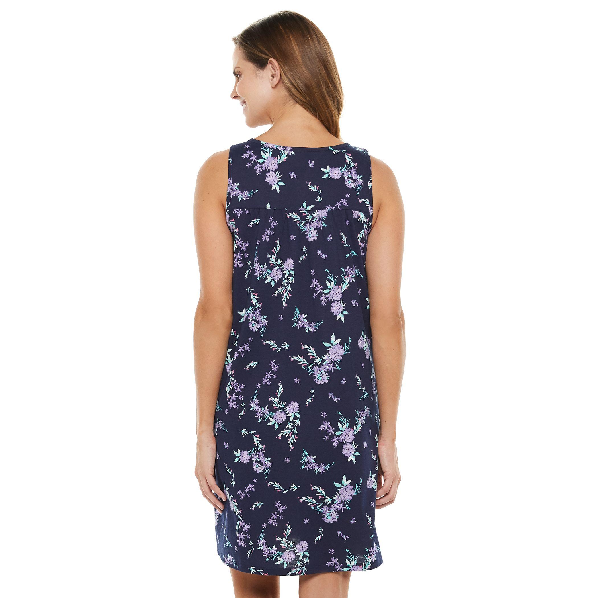Women's Croft & Barrow® Pintuck Sleeveless Nightgown