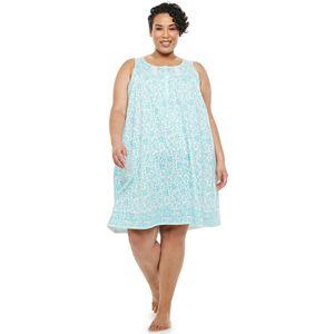 Plus Size Croft & Barrow® Pintuck Sleeveless Nightgown