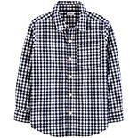 Boys 4-14 Carter's Gingham Poplin Button-Front Shirt
