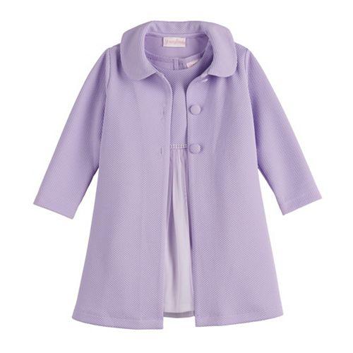 Toddler Girl Youngland Tulle Dress & Coat Set