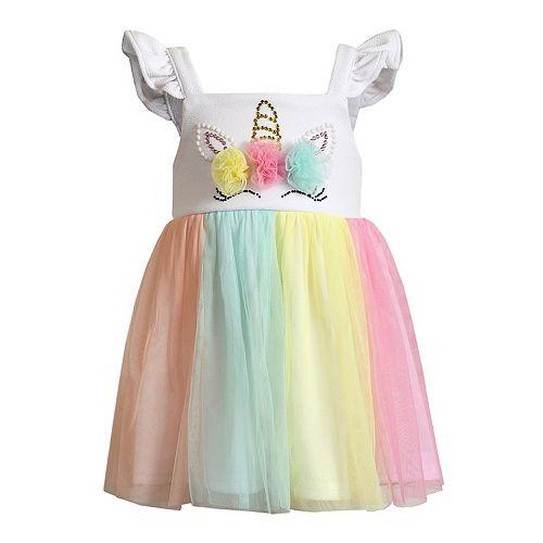 Toddler Girl Youngland Unicorn Tulle Dress