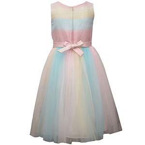 Girls 4-6x Bonnie Jean Metallic Ombre Dress
