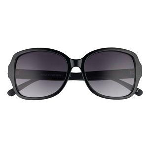 Women's Skechers 57mm Wrap Frame Rectangle Sunglasses