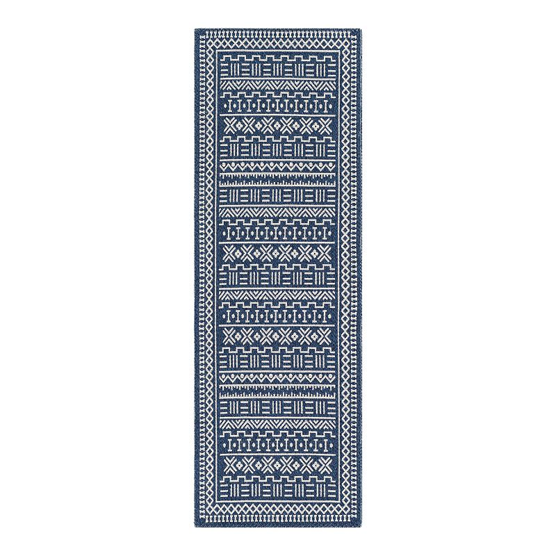 Decor 140 Gustavo Abstract Area Rug, Blue, 2X3 Ft