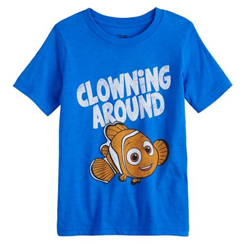 """Disney / Pixar Finding Nemo Boys 4-12 """"Clowning Around"""" Graphic Tee by Jumping Beans®"""
