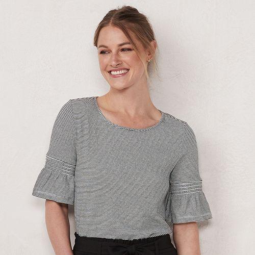 Women's LC Lauren Conrad Smocked Bell Sleeve Top