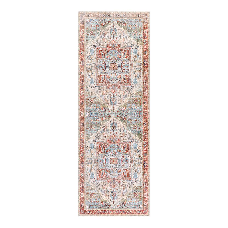 Decor 140 Gene Bohemian Area Rug, Orange, 3.5X5.5 Ft