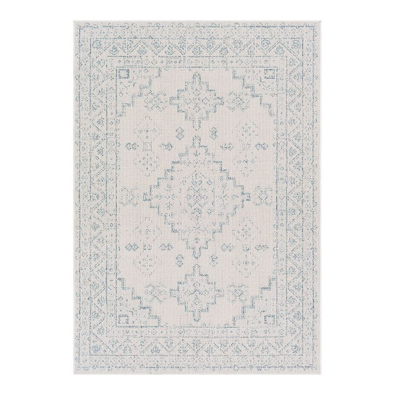 Decor 140 Ukiyo Bohemian Denim Area Rug, Blue, 2X3 Ft