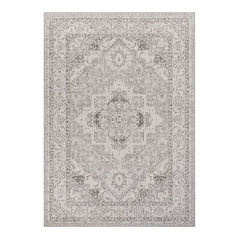 Decor 140 Rae Boheiman Taupe Area Rug, Beig/Green, 5X7 Ft