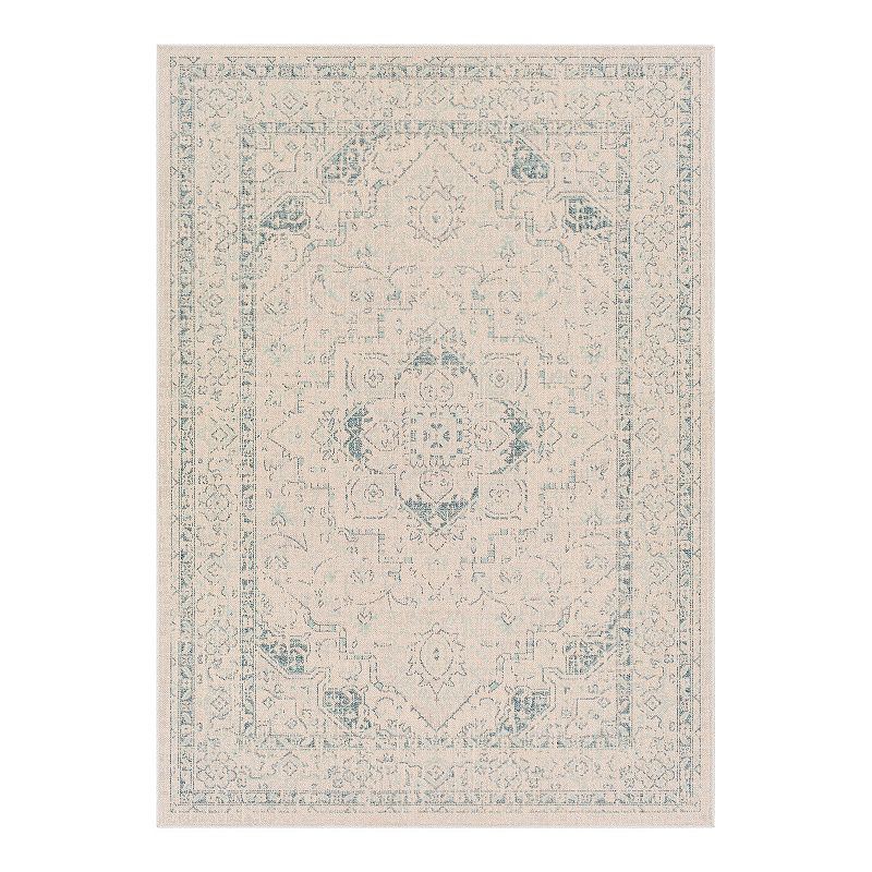 Decor 140 Quimby Bohemian Area Rug, Blue, 5X7 Ft