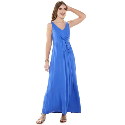 Juniors' SO® Knotted Front Maxi Dress