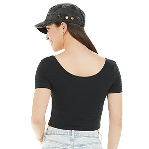 Juniors' SO® Cropped Tee