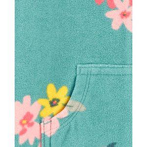 Baby Girl Carter's Floral Fleece Jumpsuit