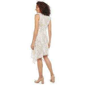 Petite Chaps Sleeveless Crewneck Chiffon Dress
