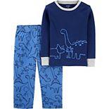 Toddler Boy Carter's Dinosaur 2-Piece Top & Bottoms Pajama Set
