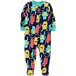 Baby Boy Carter's Monster Fleece Footed Pajamas