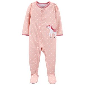 Baby Girl Carter's 1-Piece Horse Footie Pajamas