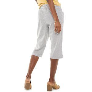 Petite Gloria Vanderbilt Marjorie Print Capri Pants