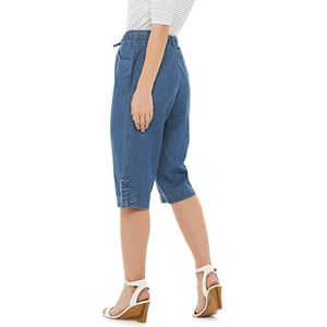 Petite Gloria Vanderbilt Dylan Pull-On Capri Jeans