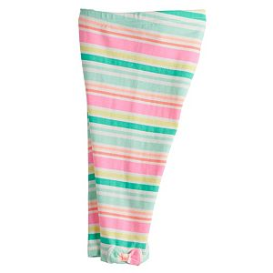 Baby Girl Jumping Beans® Striped Bow-Hem Leggings