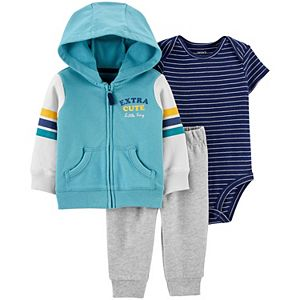 Baby Boy Carter's 3-Piece Striped Little Jacket, Bodysuit & Pants Set