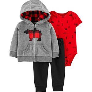 Baby Boy Carter's 3-Piece Bear Little Jacket, Bodysuit & Pants Set