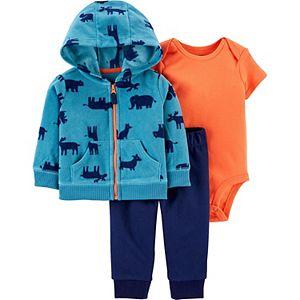 Baby Boy Carter's 3-Piece Animal Little Jacket, Bodysuit & Pants Set