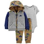 Baby Boy Carter's 3-Piece Dinosaur Little Jacket, Bodysuit & Pants Set