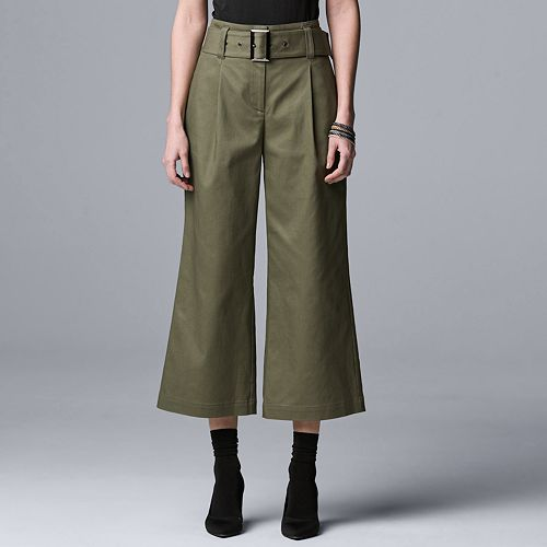 Womens Wide Leg Crop Trousers Simply Be