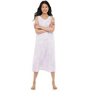 Women's Croft & Barrow® Lace-Trim Long Nightgown